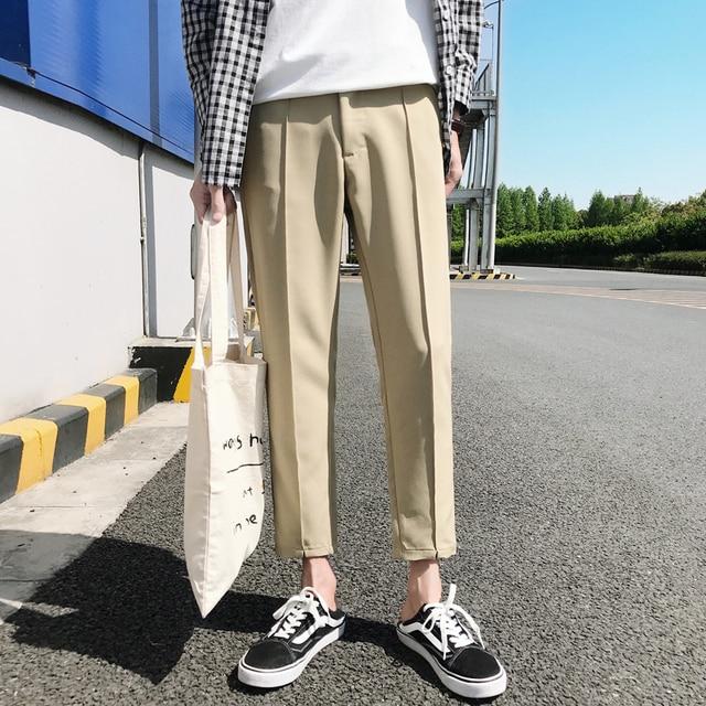 2018 日本のメンズ綿カジュアルハーレムパンツファッショントレンドズボンヒップホップスタイルルーズ大サイズ黒/カーキパンツ M 3XL