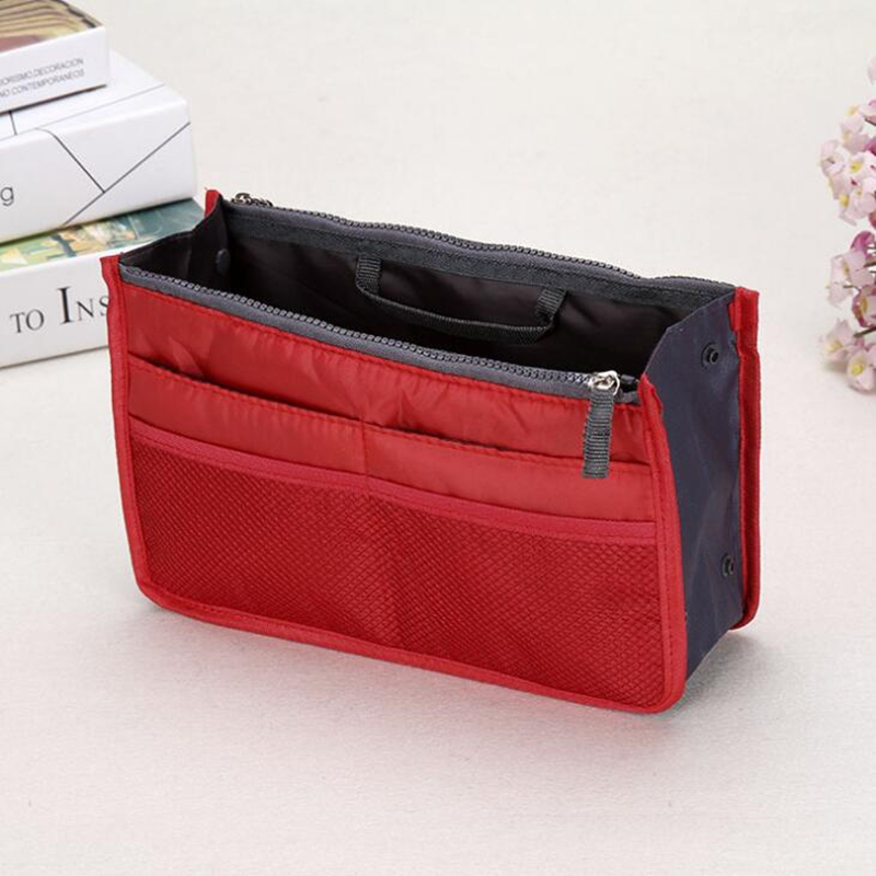 New Women Portable Travel Cosmetic Bag Makeup Case Pouch Toiletry Wash Organizer cotton Material wash easily