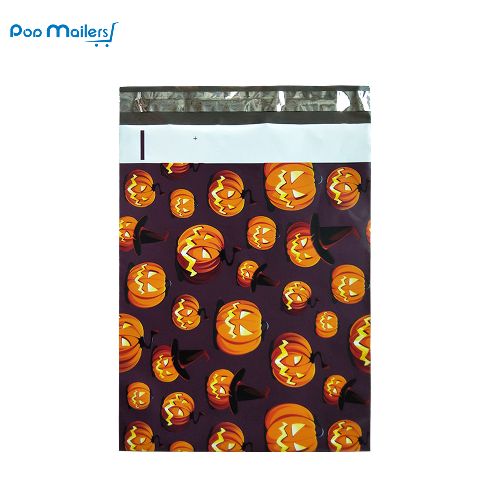 10x13 Poly Mailers Shipping Envelopes Boutique Custom Bags, Premium Halloween Designer, Thickness 2.35MIL, Pack of 100 7 5x10 white poly mailers bags envelopes 100 qty