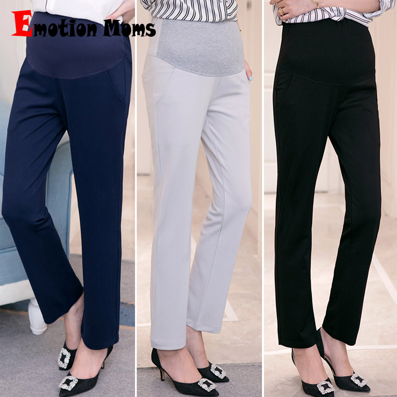 Emotion Moms Maternity Clothes Maternity Pants&Capris pregnancy Pants Maternity trousers For Pregnant Women Pregnancy Pants 2017 autumn maternity bib pants pregnant trousers belt plus clothes for fat women pregnant overalls jumpsuit solid women