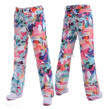 Gsou snow high quality Fabric women's Snowboard pants ski trousers Waterproof Windproof Breathable+Original goods