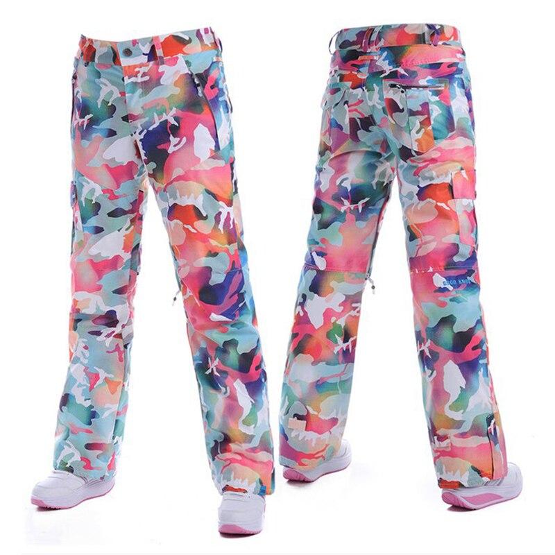 Gsou snow haute qualité tissu pantalon de Snowboard femme pantalon de ski imperméable coupe-vent respirant + marchandises d'origine