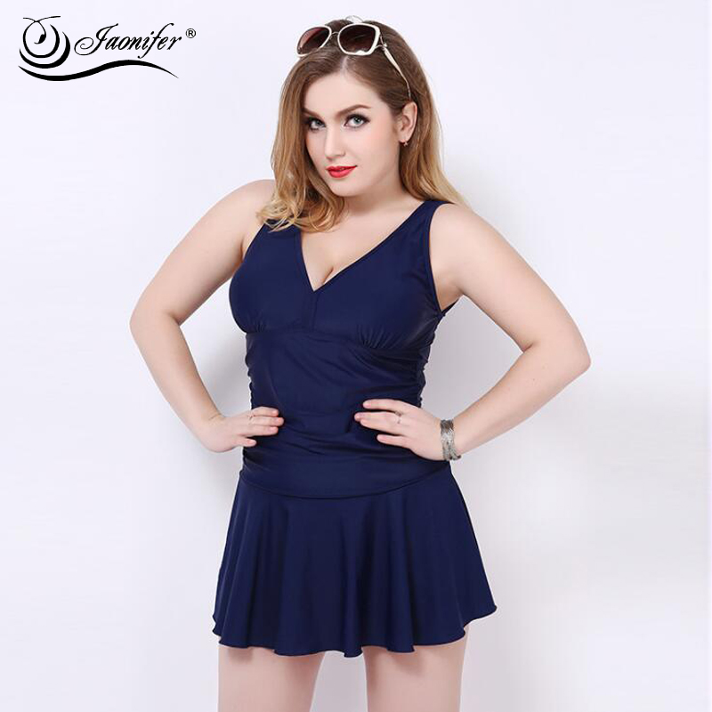 2018 Solid Color Plus Size Swimwear Women One Piece Swimsuit Sexy Big Cup Swimming Bathing Dress Suit Ladies Swimwear Tankini plus size scalloped backless one piece swimsuit