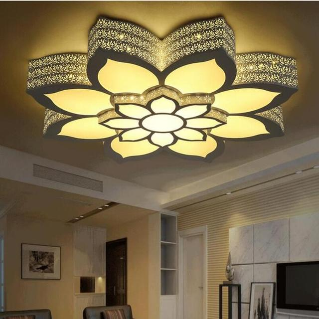 Modern Lotus Led Ceiling Lamp Led Lamps High Power Led Acrylic New Living  Room Ceiling