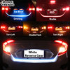 Yellow Red Blue White 120cm LED Rear Trunk Dynamic Turn Signal Tail Light Strip Flexible Tailgate