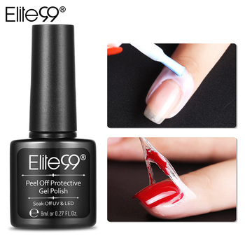 Elite99 8 ML Weiß Rosa Peel Off Flüssigkeit Nail art Basis Mantel Pflege Band Latex Finger Häutchen Creme Haut Geschützt kleber