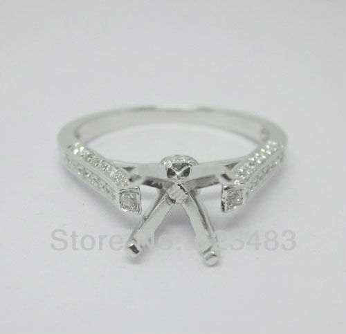 jewellery  Round cut 6.0mm  14K Solid White Gold Natural Diamond Semi-Mount Ringjewellery  Round cut 6.0mm  14K Solid White Gold Natural Diamond Semi-Mount Ring