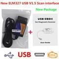 Hot elm327 usb Interface OBD2 Connector elm 327 bluetooth OBD 2 elm327 v1.5 bluetooth Auto Scanner Automotivo elm 327 For Car|elm327 v1.5|elm327 usb|auto scanner -