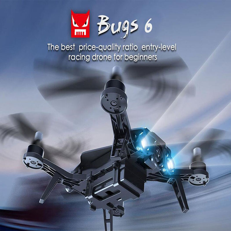 MJX B6 BUGS High Speed Racing Drone RC Quadcopter 300 Meter Distance Flying 3D GLASS FPV Screen mjx bugs 3 rc quadcopter rtf black
