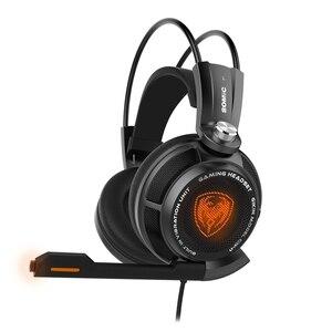 Image 5 - מקורי Somic G941 7.1 וירטואלי סראונד USB משחקי אוזניות רטט זוהר Led בגימור אוזניות עם מיקרופון קול שליטה