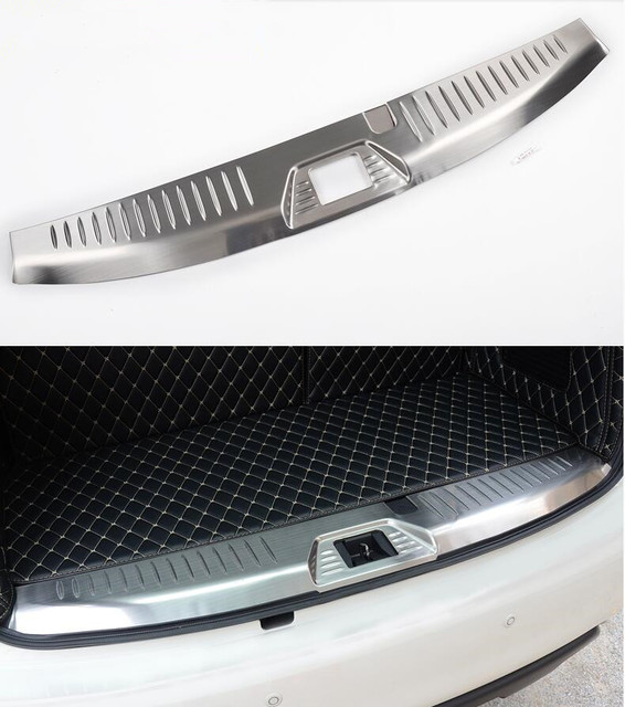 Stainless Steel Rear Bumper Protector Sill Trunk Guard Cover Trim Car Styling For Nissan Patrol Y62 2010-2017