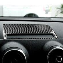 цена на For Audi A3 8V Carbon Fibre Navigation GPS Dashboard Console Cover Trim Panel Interior Car Styling Decoration