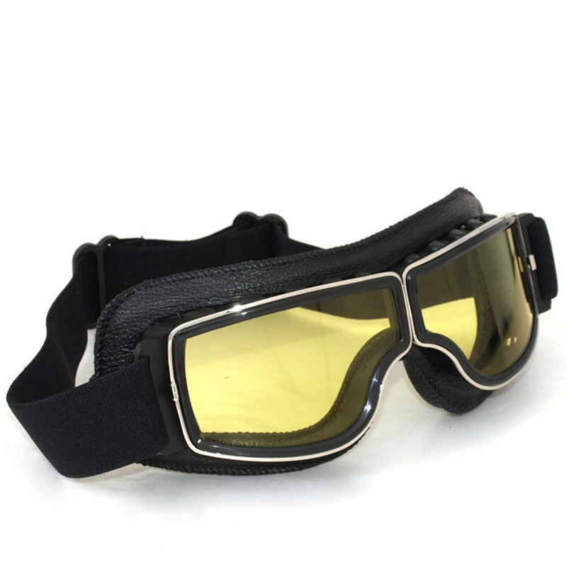 2016 NEW Hot Aviator Pilot Cruiser Cycling Bicycle Motorcycle Goggles Glasses Eyewear Black Frame
