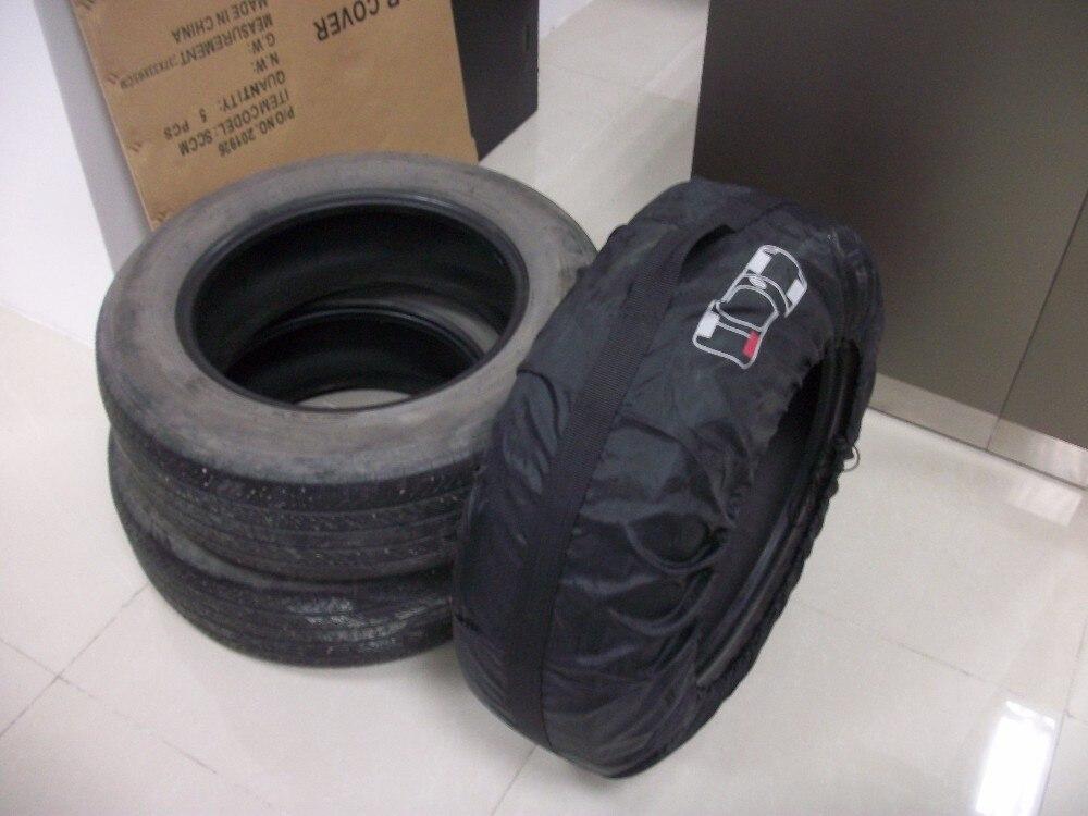 Чехол для автомобильных запасных шин для лета и зимы, полиэстер, авто защита шин, сумки для хранения, черные колеса, аксессуары для седана, внедорожника