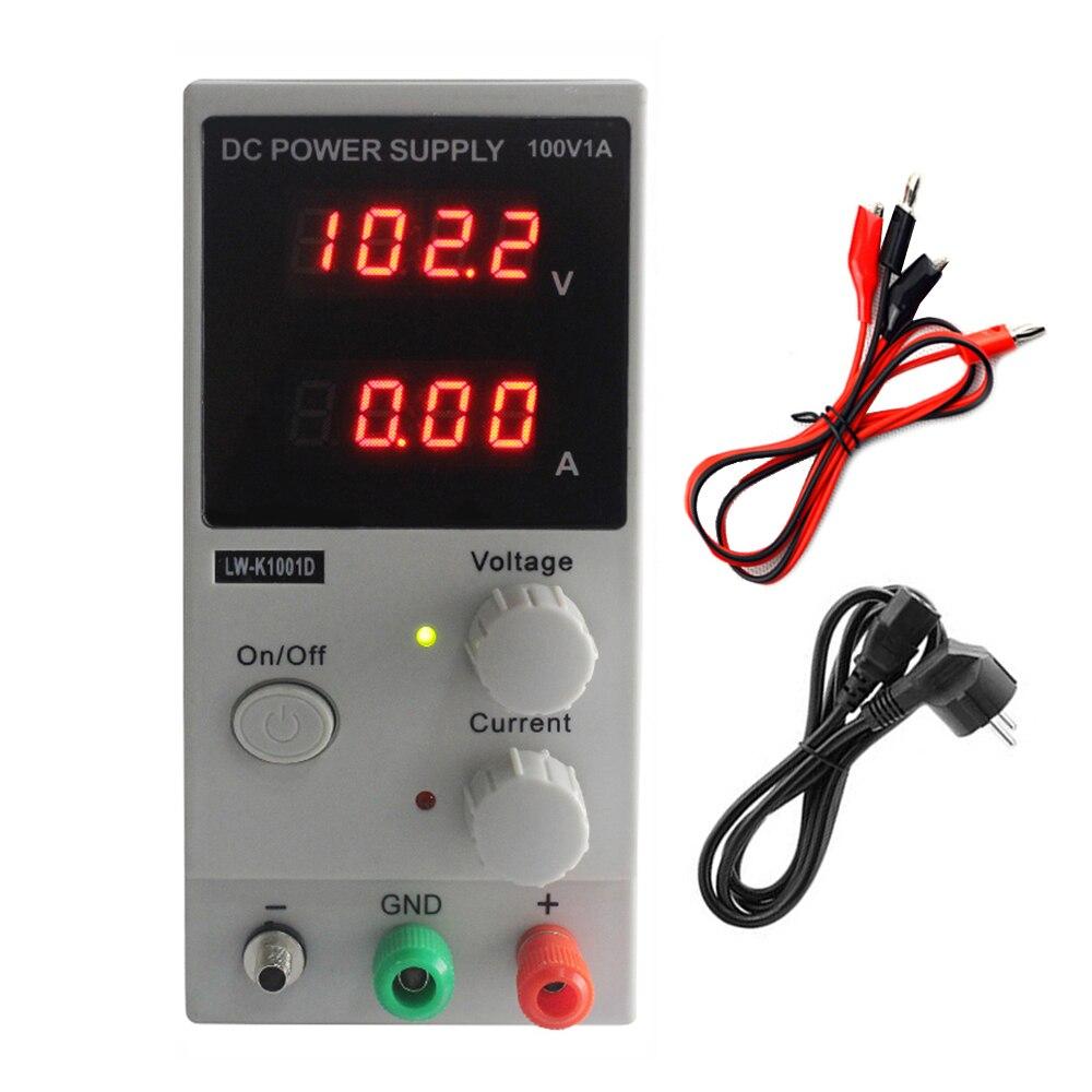 Régulateurs de tension LW-K1001D 100 V 1A Mini DC alimentation numérique affichage réglable laboratoire Test alimentation à découpage