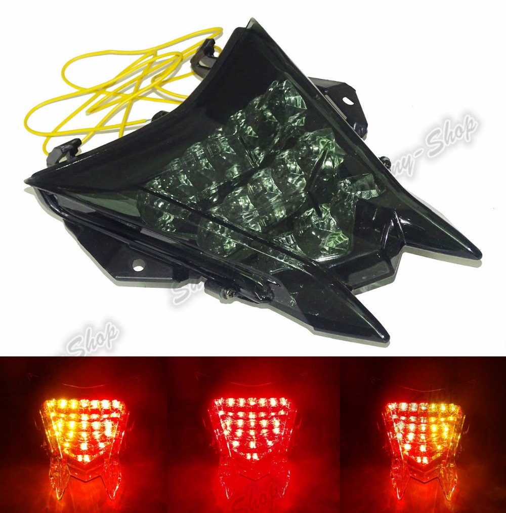 Motorcycle Parts Rear Tail Light Brake Turn Signals Integrated Led Light Smoke For 2013 2014 2015 2016 BMW HP4 K42 aftermarket free shipping motorcycle parts led tail brake light turn signals for honda 2000 2001 2002 2006 rc51 rvt1000r smoke