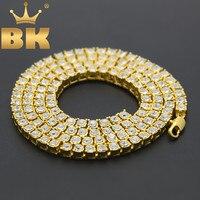 Для мужчин хип хоп Bling Iced Out теннис цепи 1 ряд ожерелья для мужчин Элитный бренд серебро/золото Цвет цепочка модные ювелирные изделия