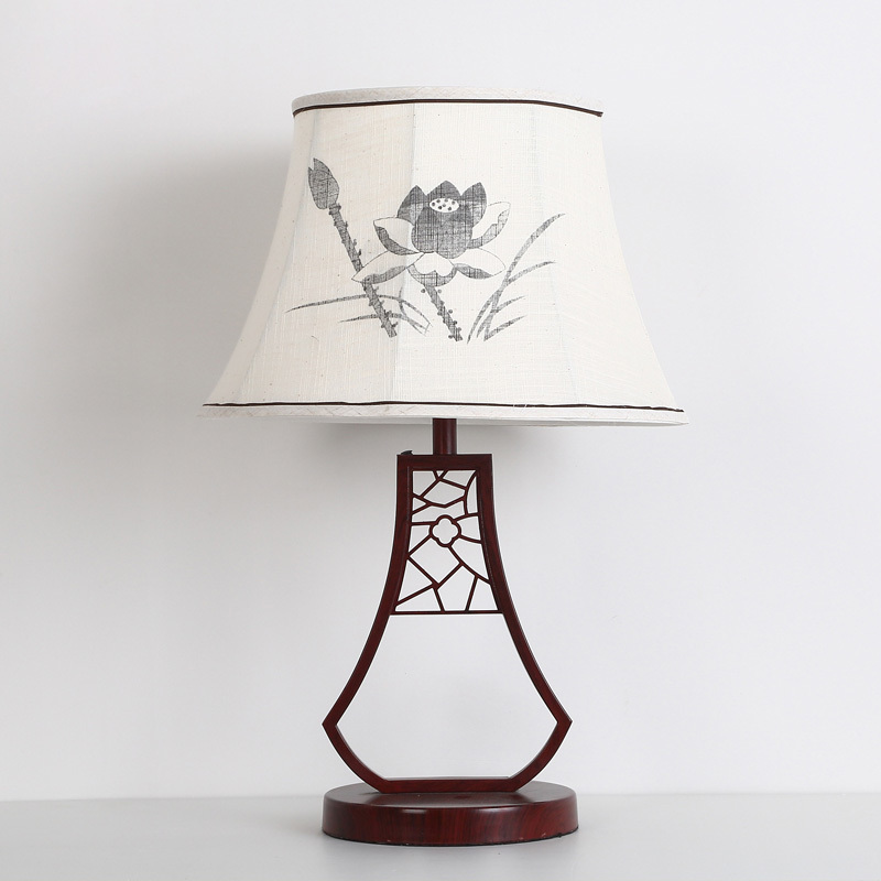 Китайский классический белый лотос настольная лампа исследование гостиной спальня ночники китайские настольные лампы za81492