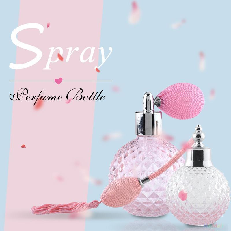 100ml Glass Crystal Perfume Vintage Bottle 100ml Spray Atomizer Bulb Empty Refillable Lady Unique Gift hhtu baby rompers long sleeve baby girls clothing jumpsuits children autumn newborn baby clothes cotton