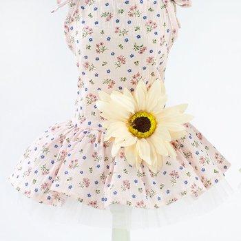 Модное платье для собак весна лето Одежда для собак платья для собак маленькая юбка с маргаритками Одежда для собак товары для домашних жив...