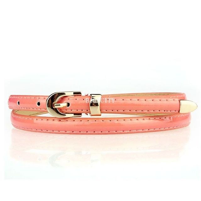 Classic Candy Color Thin Waist Belt