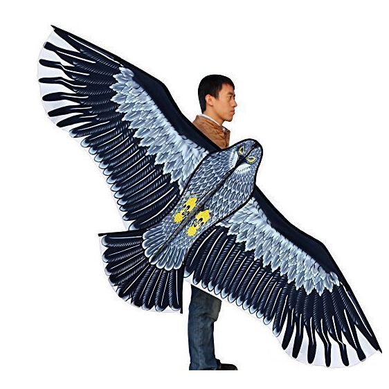 Nye Legetøj 1.8m Power Brand Kæmpe Eagle Kite With String And Handle Novelty Toy Kites Eagles Large Flying For Gift