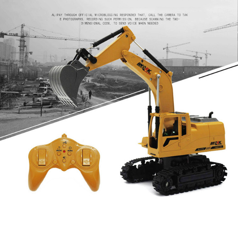 RC Truck Excavator Crawler 8CH 2.4G Remote Control Digger Demo Construction Engineering Vehicle Model Electronic Kids Hobby Toys(China)