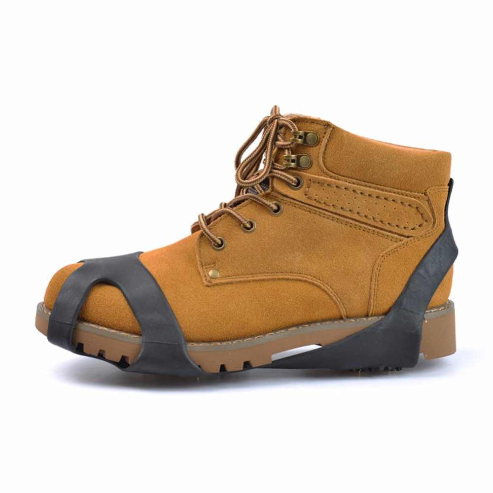10 Kancing Anti-Selip Es Musim Dingin Mendaki Crampon Anti Slip Salju Sepatu Spike Genggaman Cleat Di Penutup Sepatu S M L XL 4 Ukuran