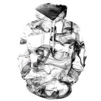 Fashion Mens Sweatshirts Hoodies 3D Chinese Ink Painting Men S Designer Hoodies Round Neck Collar Moletom