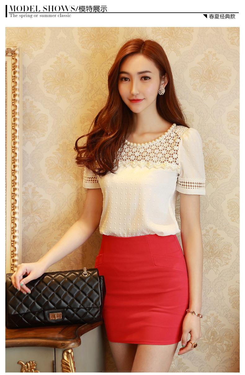 HTB1R9XpGFXXXXclXXXXq6xXFXXXF - 3D Lace Chiffon Blouse Shirt Women Clothing