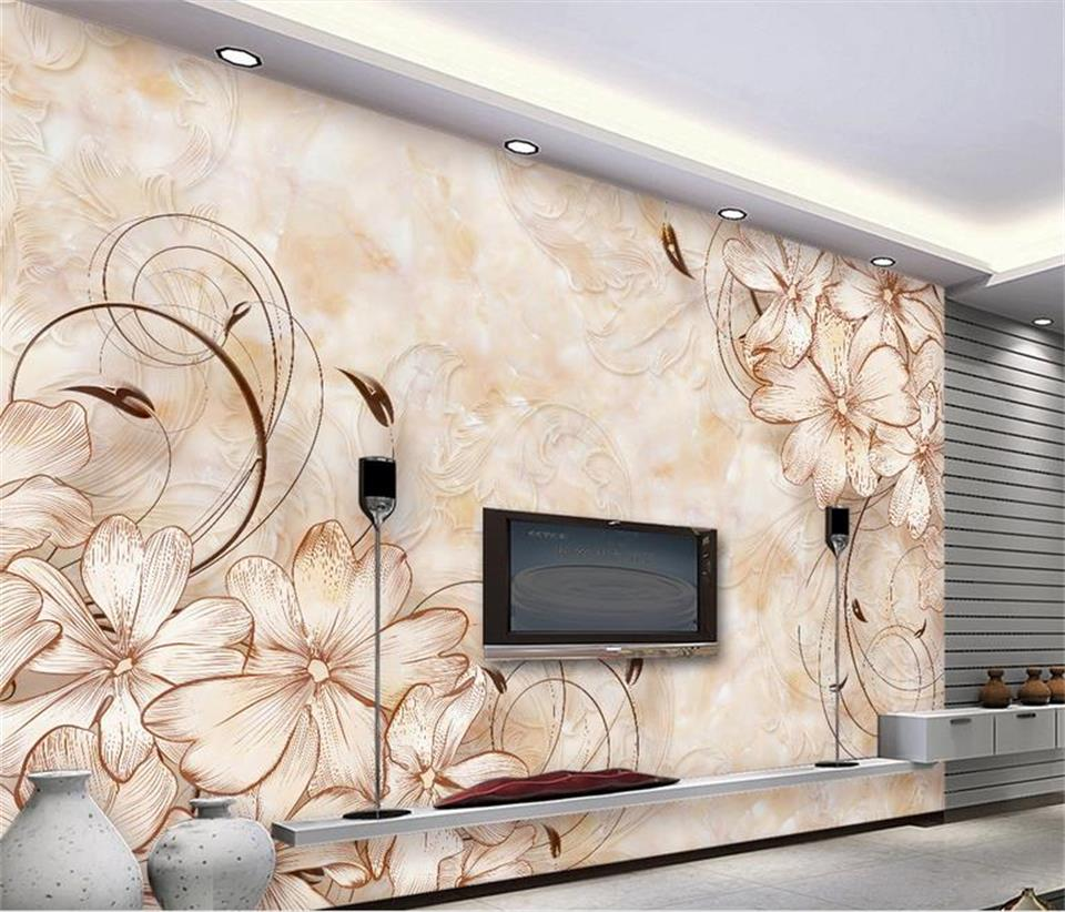 3d Wallpaper Custom Photo Mural Non Woven Flower Boutique Pattern