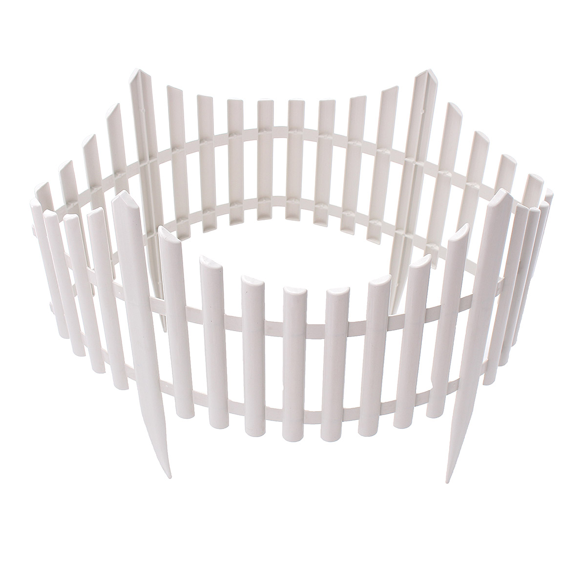 12Pcs 610x330mm Plastic Garden Border Fencing Fence Pannels Outdoor Landscape Decor Edging Yard Easy Install Insert Ground Type