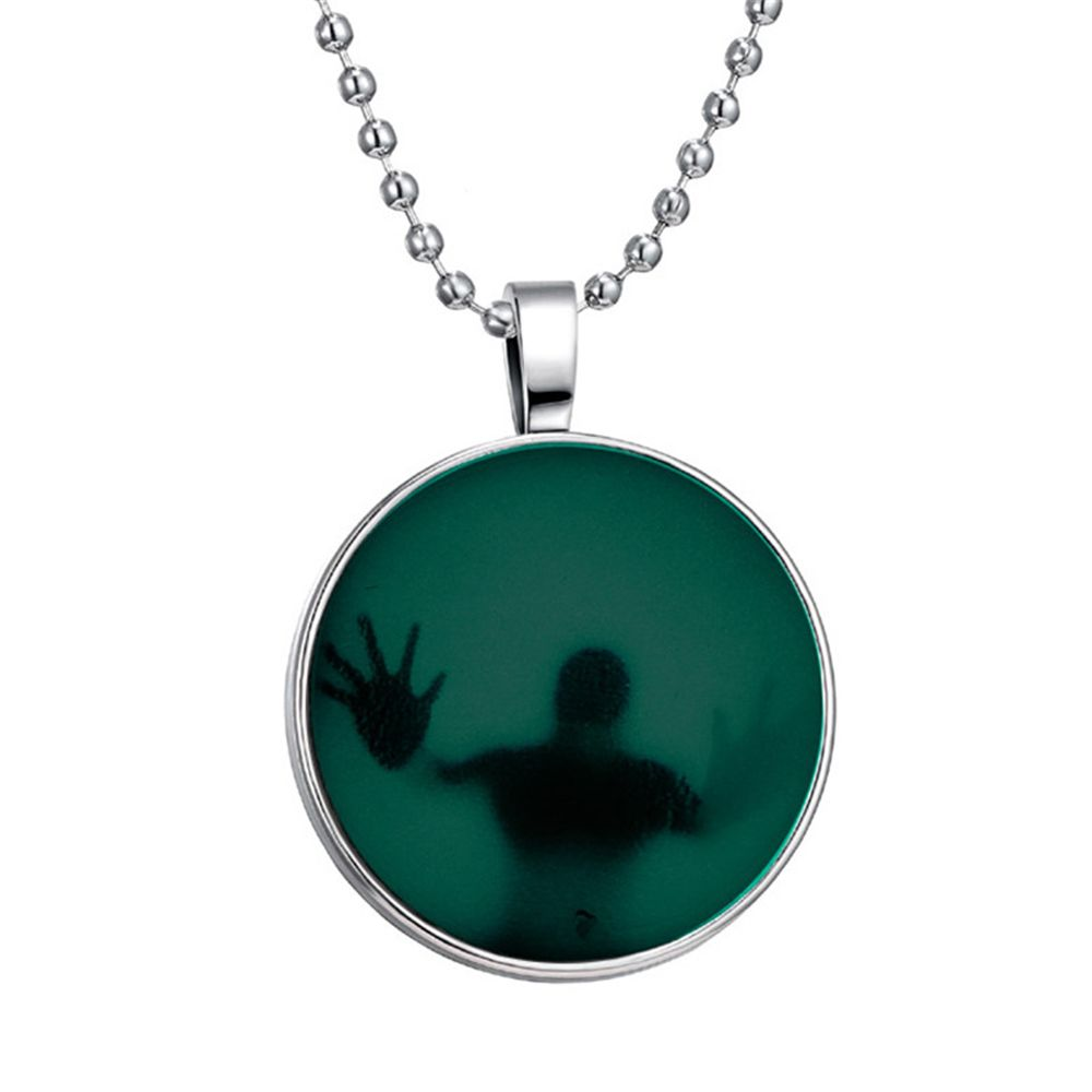 Fashion Jewelry Glow in the Dark Necklace Pendant Stainless Steel Chain Charm