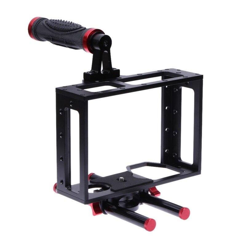 Professional Aluminum Alloy Protective DSLR Camera Cage Stabilizer Metal Anti slip Top Handle Set Portable DSLR