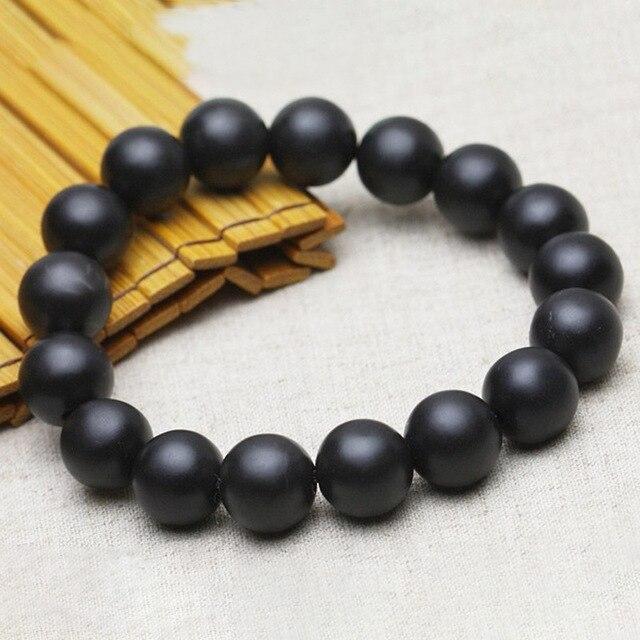 Bracelet Jade Noir Véritable 1