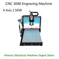 800W 110V 220V Spindle CNC 3040Z CNC Metal Engraving Machine 1 5kw VFD CNC Router Water