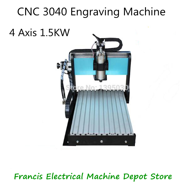800W Small 4 Axis CNC 3040 Engraving Machine Cnc Router 1.5KW MACH 3 Engraving Machine Water-Cooling Type metal engraving machine 3040 engraver 800w cnc machine to eu country free tax