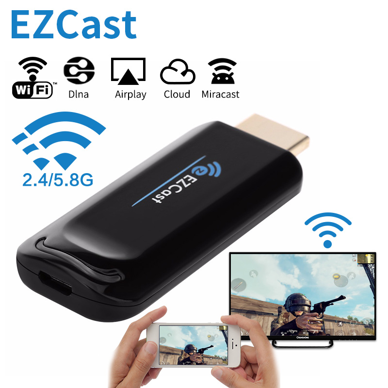 WiFi Portable WLAN Display Receiver 1080P HDMI Screen Mirroring Adapter Support Airplay DLNA Miracast for iOS//Android Smartphones//Windows//Mac//Laptop 2.4G//5G Wireless Display Dongle