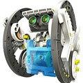 VENDA QUENTE DIY Brinquedos de Aprendizagem Educacional Energia Solar Robot Kit 14IN1 Das Crianças Das Crianças
