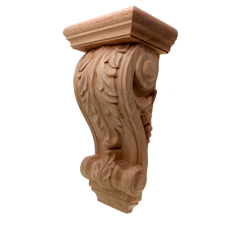 Vzlx Planta Vintage Madera Tallada Esquina Aplique Decorar Marco Gabinete Chimenea Puerta Muebles Decorativos Figuras De Madera