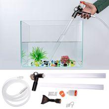 Aquarium Fish Tank Cleaner Quick Release Vacuum Siphon Pump-Fish Drainer Gravel Water Filter