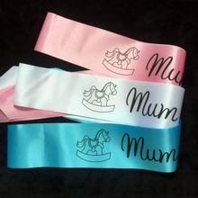 1PC/2PC/3PC Footprint Mum To Be Baldric Baby Boy Girl Shower Decoration Sash Newborn Party Decoration Pregnant Mom Favor Gifts(China)