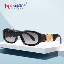 Exquisite oval sunglasses women brand vintage irregular fram