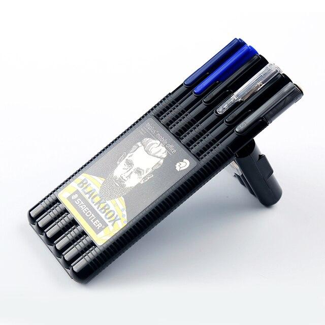Deutschland Staedtler Triplus Schwarz Box Büro 0,5mm Mechanische Bleistift Fühlte Spitze Pen Permanent Marker Stift und Bleistift Set Schreibwaren