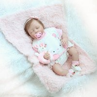 22 Inch Full Body Soft Silicone Vinyl Realistic Toddler Newborn Baby Doll Toys Reborn Baby Doll Non toxic Safe Toys Baby Doll