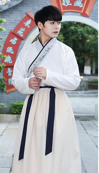 Unisexe Original Hanfu GuangDong brodé croix foulard épées homme femme style uniforme spécial costume Canton broderie - 6