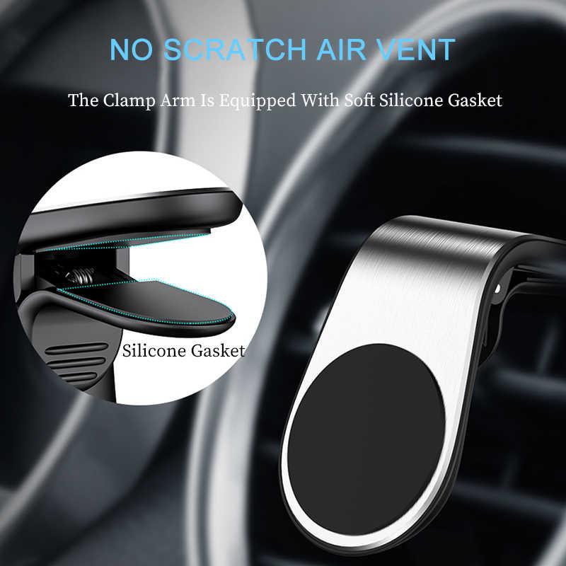 Telefon için manyetik araç tutucu araba hava firar dağı klip güçlü mıknatıs cep akıllı telefon tutucu otomatik desteği GPS navigasyon