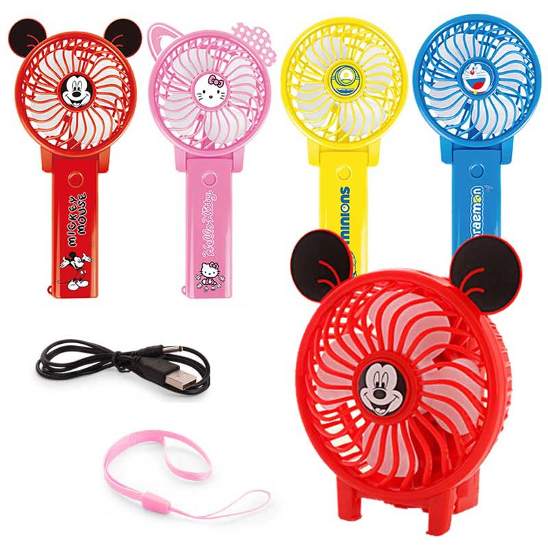 Summer Cool Toy Cartoon Handheld Mini Electric Fan Usb Rechargeable Electric Fan