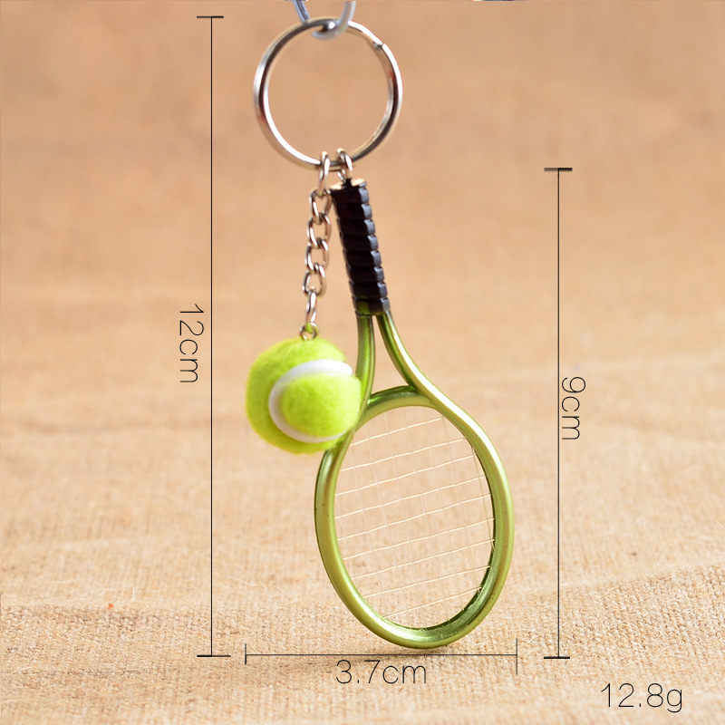 Soccerwe Mini Tennis Rackets Resin Multicolor 6 Colors Decoration Lovely Gift Sports Fans Crafts Christmas