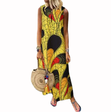 2019 New Arrival Sexy Fashion Style African Women Printing Plus Size Long Dress